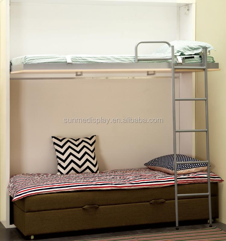superpos s mur lit pliant canap mur lit space saving lit. Black Bedroom Furniture Sets. Home Design Ideas