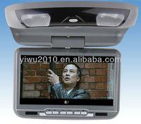 9-Inch Flip Down Monitor and DVD Player with Wireless FM Modulator/ IR Transmitter