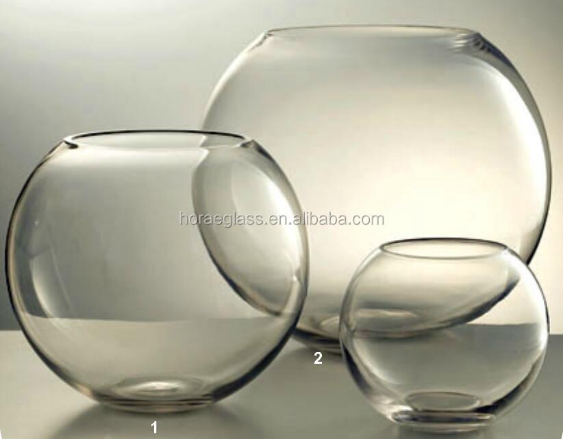 2017 Hot Sale Round Clear Glass Vasehome Decoration Flower Vase