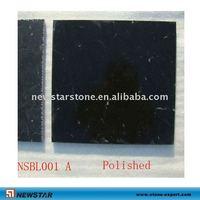 polished black limestone tile