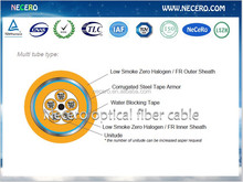 loose tube armored indoor fiber cable 2/4/6/8/12/24/36/48/72/96 fibers