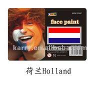 flag face paint(Holland),face paint brands