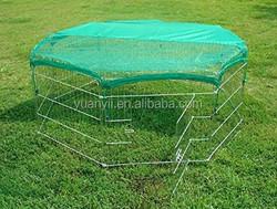Rabbit pet fence folding /pet puppy exercise play yard/metal pet enclosure play pen