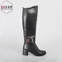 H1605-Y785 Belt buckle boot high heels boot snow woman boot