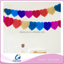 Colored Paper Tissue Garland 12 Feet Bridal Shower Baby Shower Birthday Party