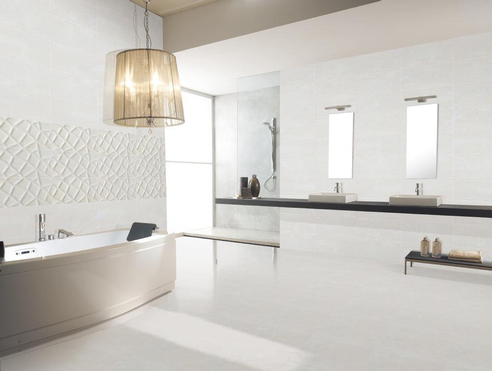 Badkamer tegels mat wit uniek tegels met de uitstraling van sloophout en beton - Badkamer tegelmat wit ...