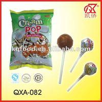 14g Halal Cream Pop Milk Chocolate Candy