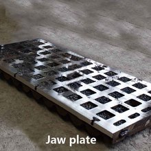 Jaw plate move and steady plate for jaw crusher
