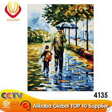 father and son impressionist painting DIY oil painting by number