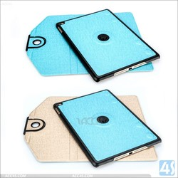 For Ipad air 2 case 360 rotating double colors leather