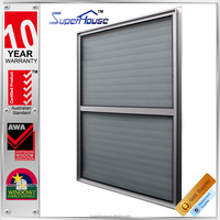 ellipse fixed aluminum sunshade louver with glass panel