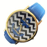 Anchor Geneva Watch Platinum Geneva Watch Anchor head pattern wave pattern PU belt watches 10 colors
