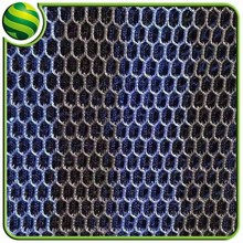 Promotional fabric motorcycle ,in-stock 3d air mesh fabric hexagonal mesh fabric supply