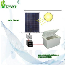 DC Power 12V 24V Solar Deep Chest Freezer ,upright solar refrigerator & freezer BCD-55