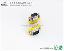 Factory direct d-sub mini rs232 gender changer