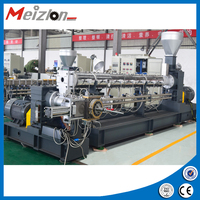 Plastic film and non-woven bags recycling machine Twin screw extruder with water-ring pelletizng machine