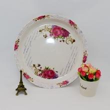 New design colorful melamine tray
