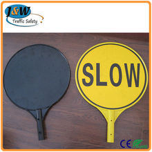 Australia Traffic Sign Slow Bat for Traffic Control, Plastic Road Safety Sign