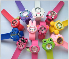 factory price cheap silicone slap watch kids watch silicone rubber watch