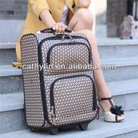 2013 new design trolley PU travel luggage