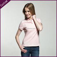 Custom Ladies Short Sleeve Blank Polo Shirts