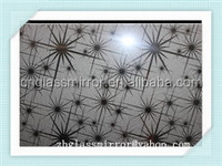 China price patterned glass mirror and textured glass