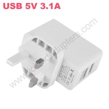 High Quality White 5V 3.1A Dual USB Charger 2USB Wall Sockets