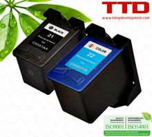 TTD Remufactured 21 22 Ink Cartridge C9351AA C9352AA for HP DeskJet 3910 3915 3930 3930V