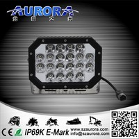 IP69K waterproof 6inch 60w quad led light led work light for 4x4 offroad