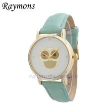 Owl design ladies custom logo cheap promotional watches