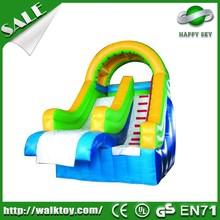 Attractive slide!! 0.55mm PVC inflatable slide pool,indoor inflatable slide,fire truck inflatable slide