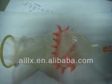 Natural Latex rubber spike male condom with different package OEM factory