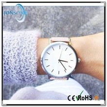 Vogue ultra thin leather stainless steel big dial watches for women import watches china
