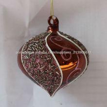 fábrica honrosa fornecido decorações bola de vidro