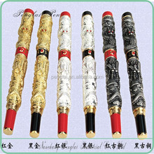 promotional color customized fine point gel golden dragon good quality steel pen
