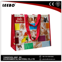 white and colorful attractive shopping bag non woven