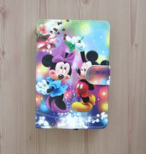 Special Design Cartoon Micky Mouse Eiffel Tower Big Ben PU Leather Case for universal 7inch Tablet