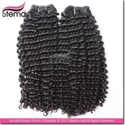 natural color cut from one donor Malaysian hair kinky curl