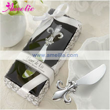 A2138 Silver Fleure De Lis Wedding Butter Knife Favors