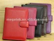 pu super slim folio Leather case for Amazon Kindle 4,for amazon kindle 4 case leather