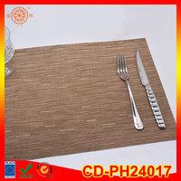 vinyl woven tslin eco-friendly hotel bamboo pvc placemat