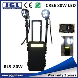 RLS-80w cree led Tunnel construction remote area work light system