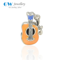 Personalized Guitar Silver Pendant Charm Wholesale China Dollar Store