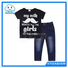 2015 hot sale baby boy organic baby clothes T-shirt & pant clothing.