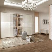 2014 New Design Latest Decorative Veneer Sliding Mirror Wardrobe Doors