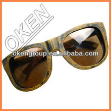 S-4136 wooden and bamboo polarized OEM recyclable and environmental wood Sunglasses