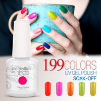 wholesale price soak off uv led gelpolish ,199 colors uv nail gel polish nail gel uv
