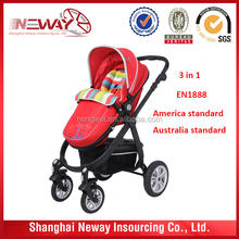 baby stroller 3 in 1 / baby stroller can put car seat and carrier