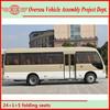 LHD/RHD Diesel Consumption Bus Body Builder 25 Seater Bus