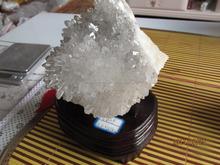 Natural claro cristal de quartzo cluster com ponto grande para o presente atacado branco cluster